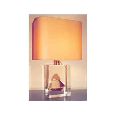 Moyenne Lampe Rectangle Thonier TR 19 Abat-jour Rectangle Abricot-135