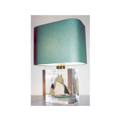 Petite Lampe Rectangle Thonier CC 798 Vert Abat-jour Rectangle Vert Fonce-110