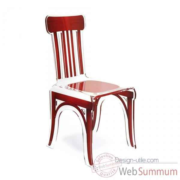 Chaise bistrot rouge acrila -cbr