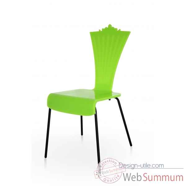 chaise couleur jardin pi tement m tallique acrila dans chaise sur design utile. Black Bedroom Furniture Sets. Home Design Ideas