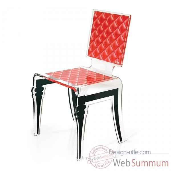 Chaise diam rouge acrila -cdr