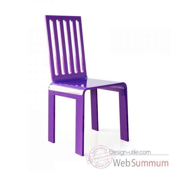 Chaise jardin barreaux violette acrila cjbvi dans chaise for Barreaux de chaise