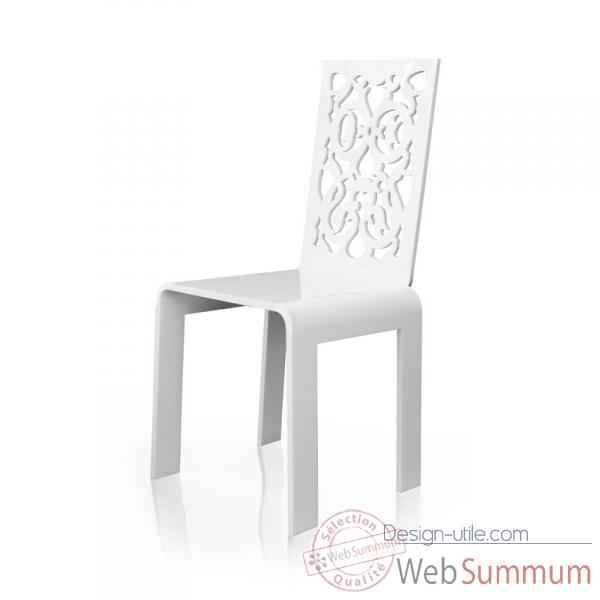 Chaise jardin dentelle blanche acrila cjdb dans acrila for Chaise blanche design
