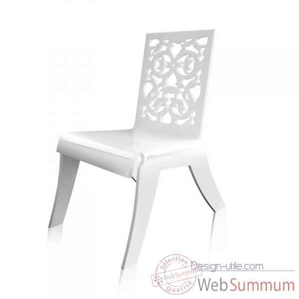 Relax chair dentelle blanche grand soir acrila -rcdbgs