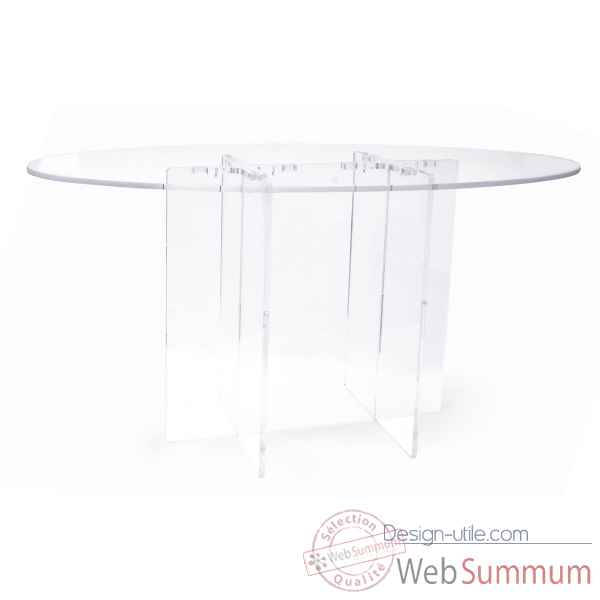 Table ovale transparente cali Acrila -Acrila154