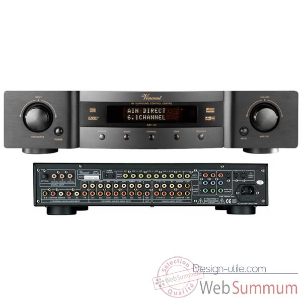Amplificateur Audio/Video Vincent SAV-C2 Decodeur Preamp 6.1 - Argent - 203746