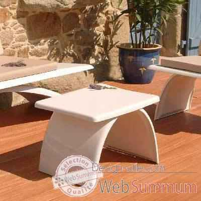 Table basse design blanche Art Mely - AM13