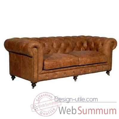 canap kensington en cuir couleur cognac deux places h 760 x 1820 x 970 arteinmotion. Black Bedroom Furniture Sets. Home Design Ideas