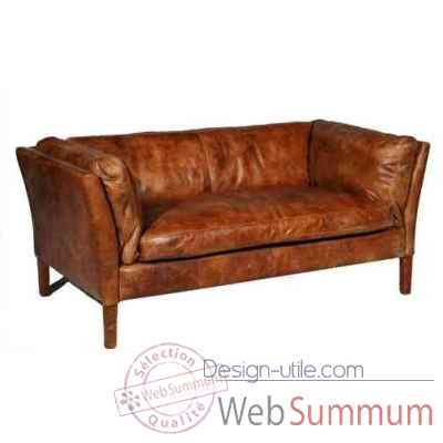 canap reggio en cuir couleur cognac deux place h 680 x 1520 x 840 arteinmotion. Black Bedroom Furniture Sets. Home Design Ideas