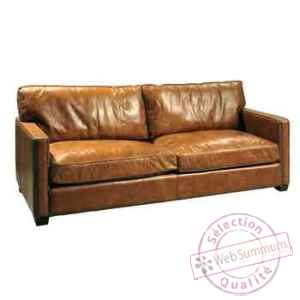 canap viscount en cuir 3 places couleur cognac h 850 x. Black Bedroom Furniture Sets. Home Design Ideas