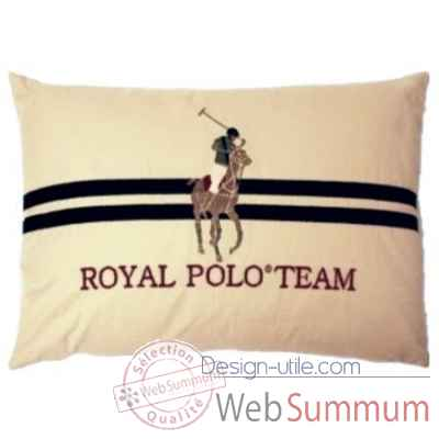 Grand coussin royal polo team arteinmotion -com-cus0173