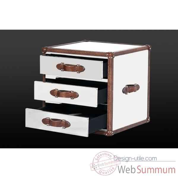 malle watson en cuir noir avec d coration h 300 x 890 x 590 arteinmotion design. Black Bedroom Furniture Sets. Home Design Ideas