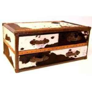 table basse stonyhurts en cuir naturel blanc et brun avec 3 tiroirs h 450 x 1010 x 600. Black Bedroom Furniture Sets. Home Design Ideas