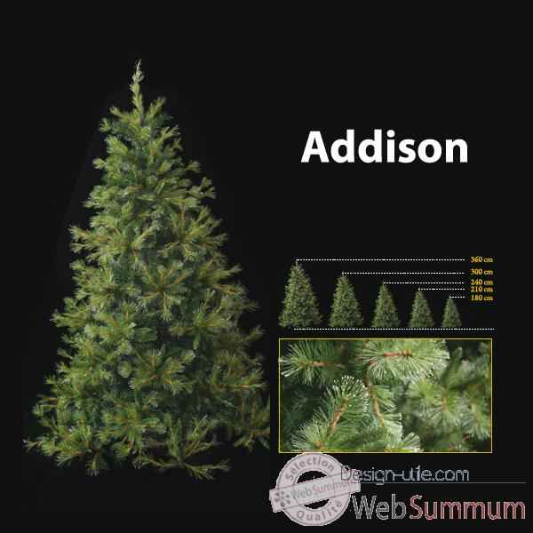 Sapin de Noel 150 cm Professionnel Addison Hard Needle Pine Tree Vert