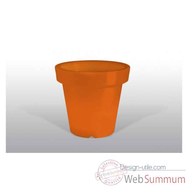 pot fleur lampe 100 cm orange bloom dans pot de fleurs. Black Bedroom Furniture Sets. Home Design Ideas