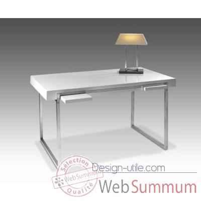 Petit bureau ordinateur marais en verre tremp dans bureau for Petit bureau en verre