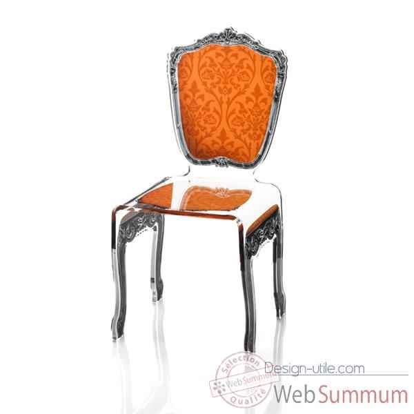 Chaise baroque orange Acrila - 0005