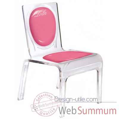 Chaise personnalisable Baby Gloss Rose Aitali