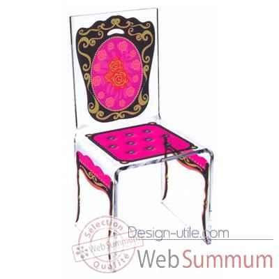Uza photo et carte postale for Chaise design rose