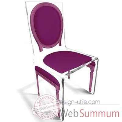 chaise aqua l16 original violet aitali photos design utile de aitali. Black Bedroom Furniture Sets. Home Design Ideas