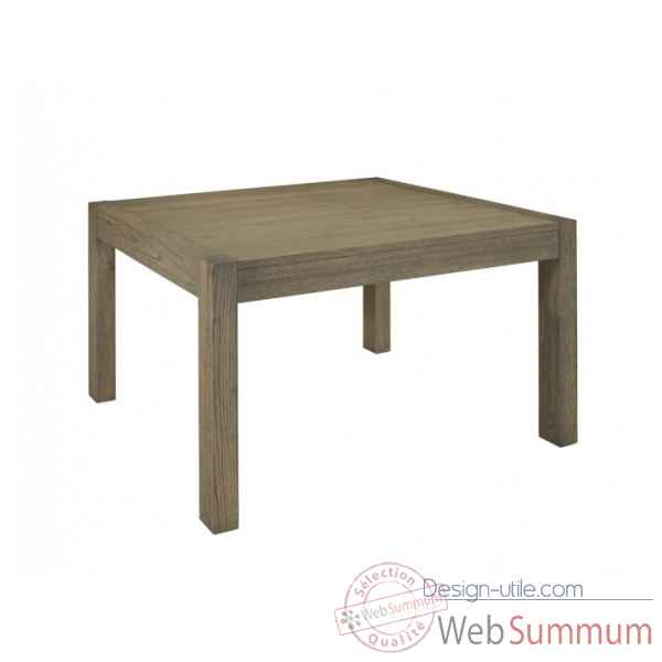Table de repas carre collection ascun 130x130x76cm Delorm Design