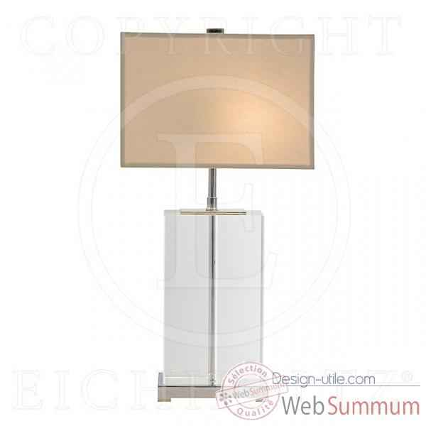 eichholtz lampe bridgefield nickel et plexiglass de meuble. Black Bedroom Furniture Sets. Home Design Ideas