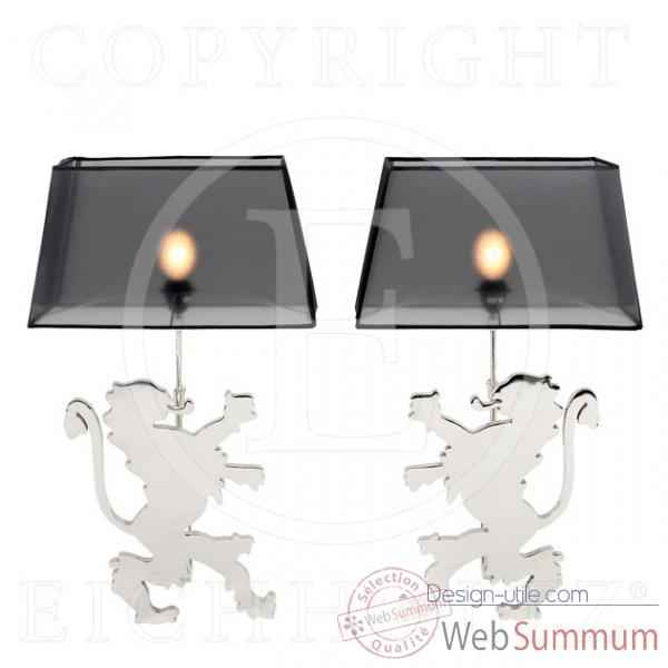 Eichholtz lampe cut lion set de 2 nickel -lig05305