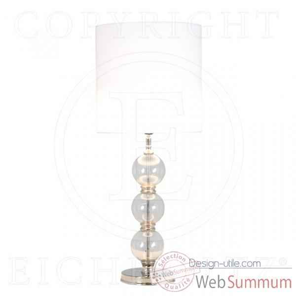 Eichholtz lampe royal sheffield nickel et verre -lig05177