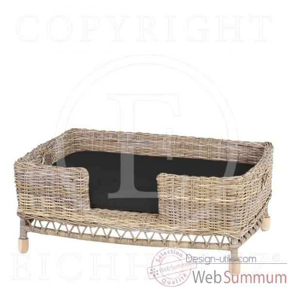 eichholtz panier chien higgins rattan rod dans coffre design sur design utile. Black Bedroom Furniture Sets. Home Design Ideas