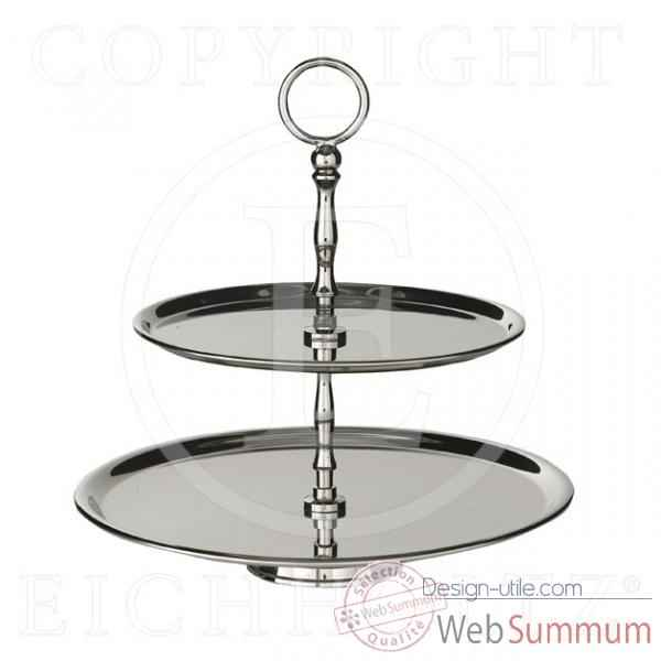 Eichholtz plat a gateau standard 2 layers  nickel -acc00819