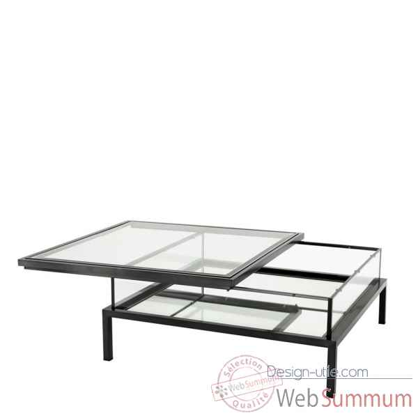 Table basse harvey bronze avec plateau coulissant Eichholtz -110373