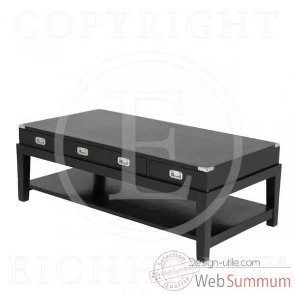 Eichholtz table basse military finition noir -tbl05506