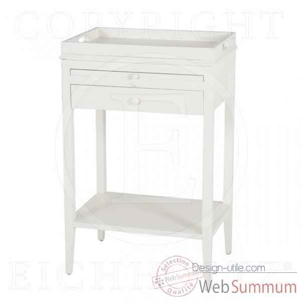 Eichholtz table broomer finition blanc -tbl04031