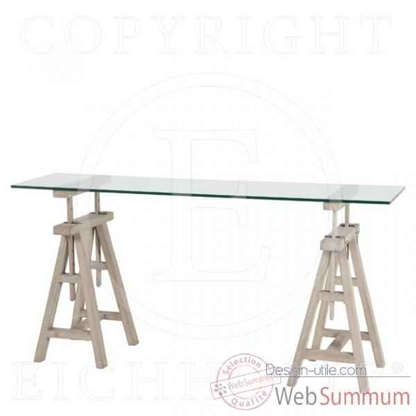 Eichholtz table console master architect chene rustique -tbl04575