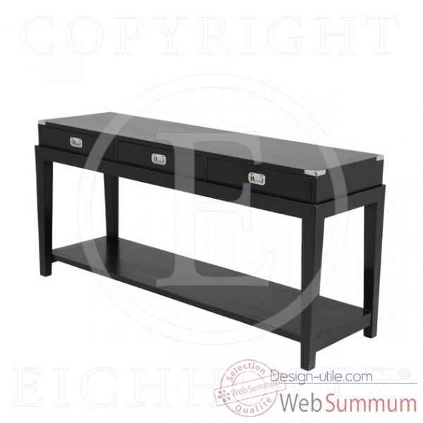 Eichholtz table console military finition noir -tbl05507