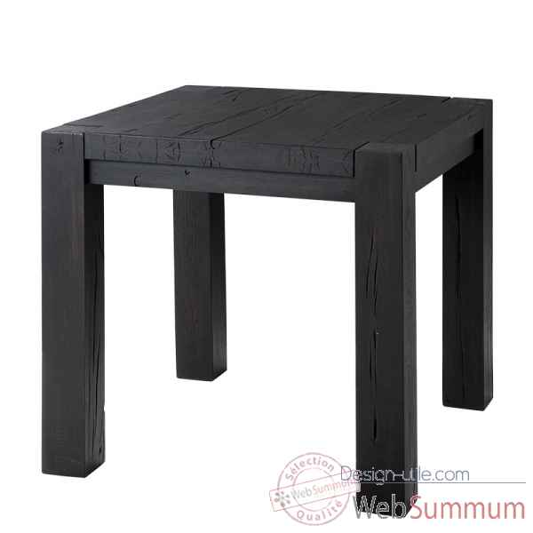 Table harbour club noire 80 cm Eichholtz -TBL07394