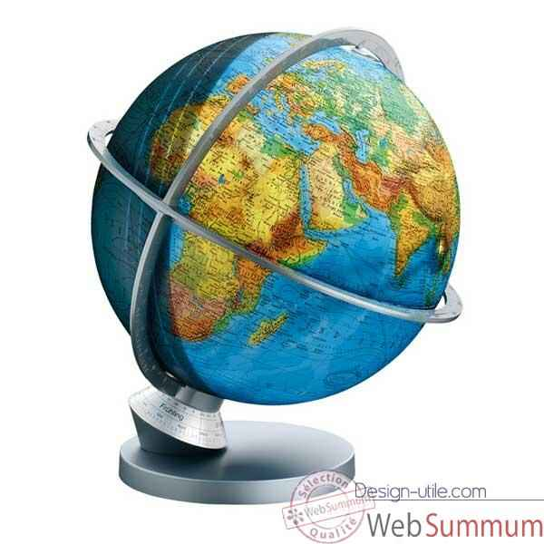 Globe geographique Colombus lumineux - modele Planete Terre Panorama - sphere 30 cm-CO4230529