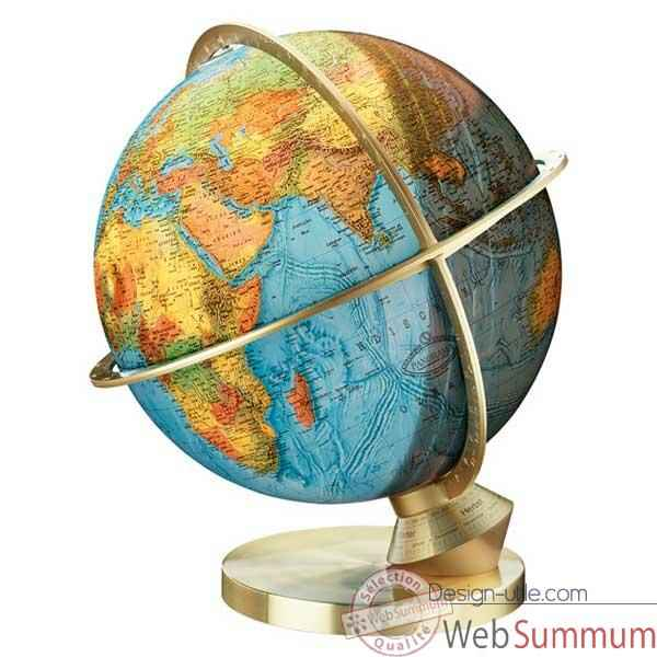 Globe geographique Colombus lumineux - modele Planete Terre Panorama - sphere 34 cm-CO483472