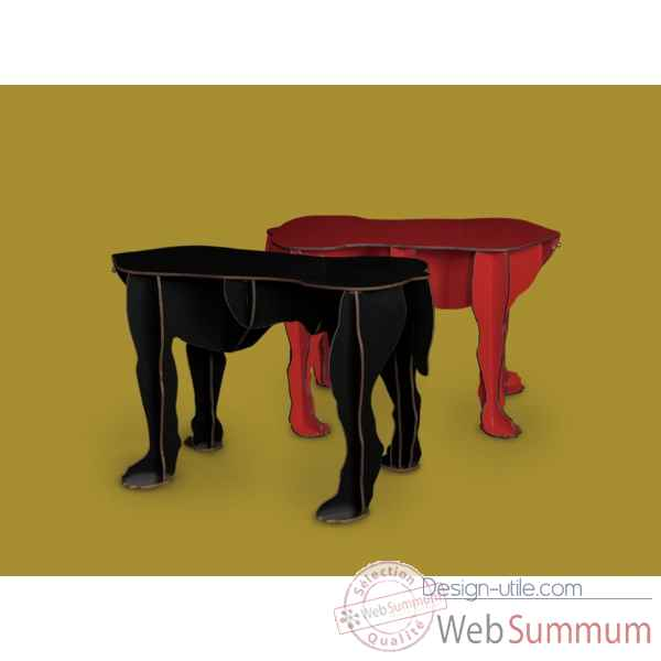 Table basse rex rouge ibride rex rouge dans mobilier de for Table basse rouge