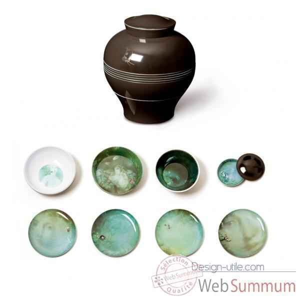Vase service de table 8 pieces empilables design Yuan Ibride