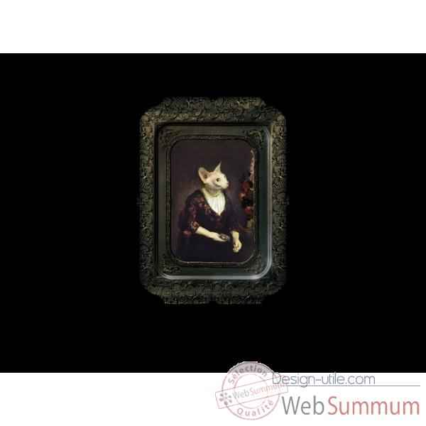 Visconti plateau tableau rectangulaire chat alice ibride