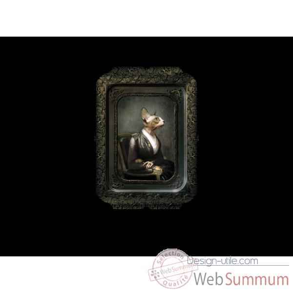 Visconti plateau tableau rectangulaire chat hermance ibride