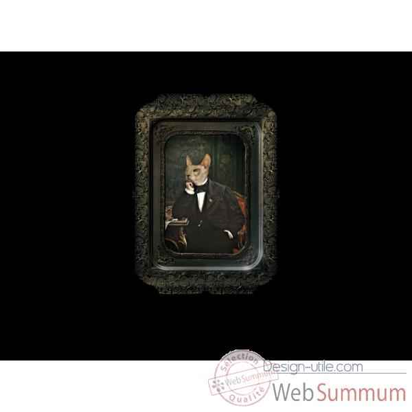 visconti plateau tableau rectangulaire chat ibride dans galerie de portraits design a. Black Bedroom Furniture Sets. Home Design Ideas