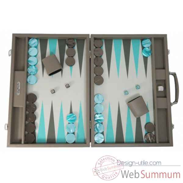 Backgammon basile toile buffle competition terre -B620-t