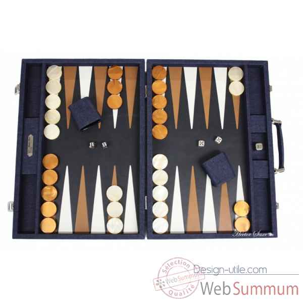 Backgammon daniel toile jeans competition bleu -B630C