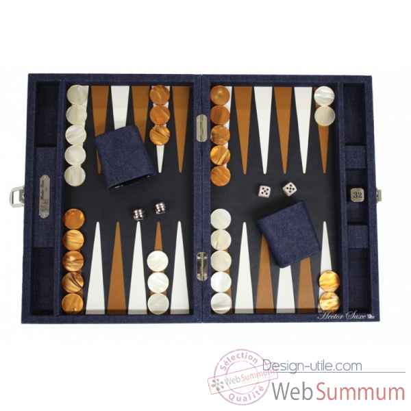 Backgammon daniel toile jeans medium bleu -B30LC