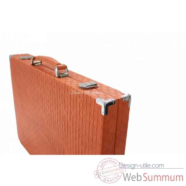 Backgammon noe cuir natte competition orange -B667-o -8