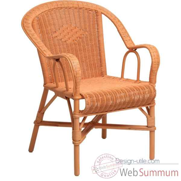 Fauteuil Grand Pere orange capucine KOK 978OR
