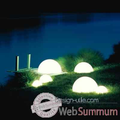 Lampe demi-lune blanche socle a enfouir Moonlight -mbg350050