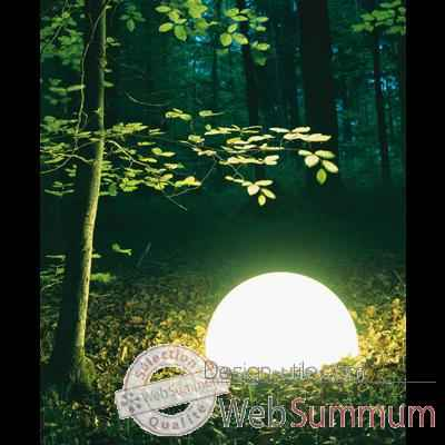 Lampe ronde socle a visser gres sable Moonlight -magslssr550.0153